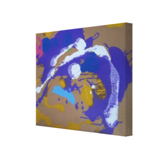 Canvas with Abstract painting in cardboard