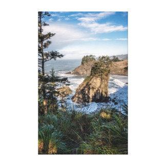 Canvas Wrap: Arch Rock Sea Stacks 4
