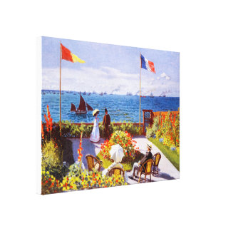 Canvas Wrap: Garden at Sainte-Adresse by Monet Canvas Prints