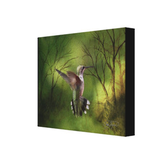 Canvas Wrap Hummingbird in Flight Stretched Canvas Print