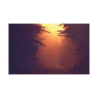 Canvas Wrap ..One Foggy Morning Stretched Canvas Prints