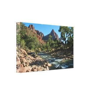 Canvas Wrap: Virgin River And Watchman Gallery Wrap Canvas