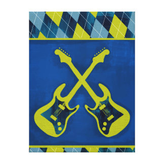 Canvas Wrapped Jr. Rock n' Roll / cross-guitars Canvas Prints