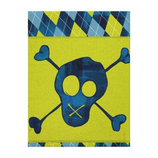 Canvas Wrapped Jr Rock n Roll skull-n-bones Gallery Wrap Canvas