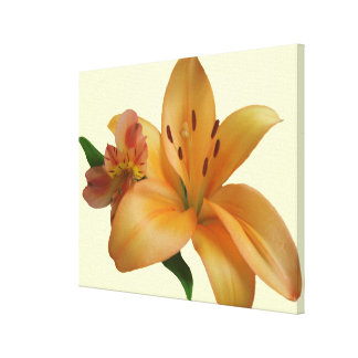 Canvas - Wrapped - Lily & Friend (Right Facing)