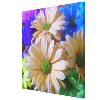 Canvas - Wrapped - Multicolored Daisies