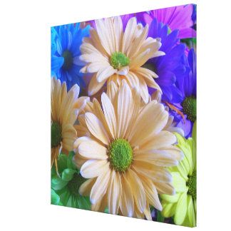 Canvas - Wrapped - Multicolored Daisies 2