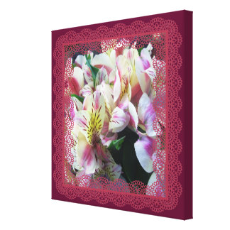 Canvas - Wrapped - Peruvian Lilies in Lace