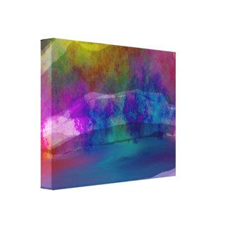 Canvas Wrapped Rainbow Bridge Painting