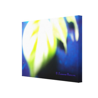 CanvasArt-LeafOnBlue.© Roseanne Pears 2012. Canvas Print