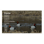 Canvasback drakes business card template