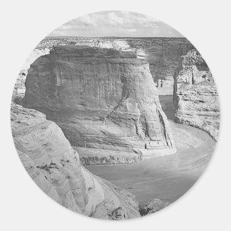 Canyon de Chelly Arizona by Ansel Adams Classic Round Sticker