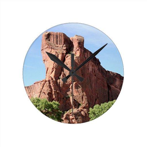Canyon de Chelly, Arizona, Southwest USA 3 Round Wall Clock