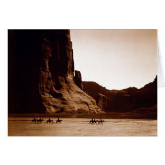 Canyon de Chelly Navajo by E. S. Curtis 1904 Greeting Card