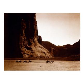 Canyon de Chelly Navajo by E. S. Curtis 1904 Postcard