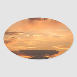 Canyon de Chelly Sunset, Arizona, USA Oval Sticker