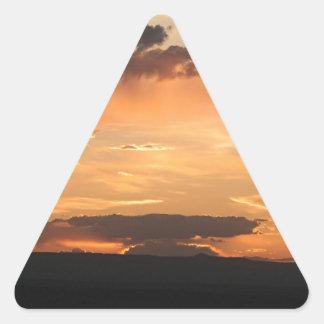 Canyon de Chelly Sunset, Arizona, USA Triangle Sticker
