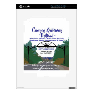 Canyon Gateway Festival 2018 promo products Skin For The iPad 2