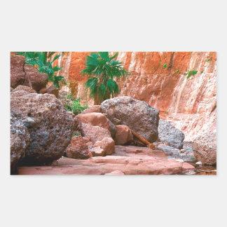 Canyon Hidden Oasis El Cajon Baja Mexico Rectangular Sticker