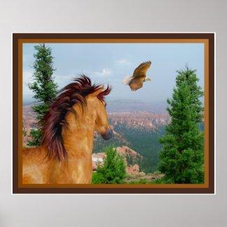 Canyon Horse - Eagle Poster print