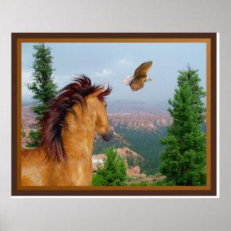 Canyon Horse -  Eagle Poster