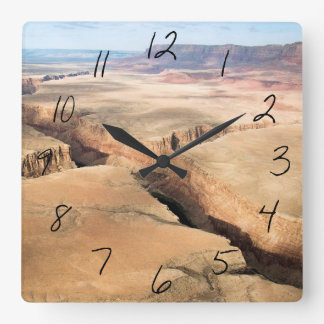Canyon in the Canyon Square Wall Clock