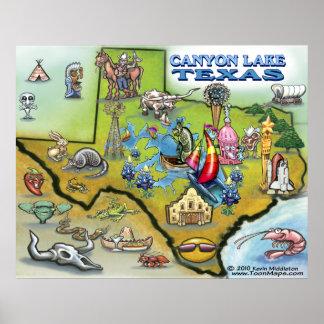 Canyon Lake TEXAS Map Poster
