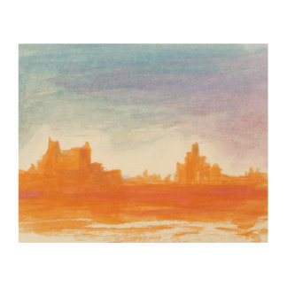 Canyon landscape painting Wood canvas Wood Wall Art