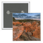 Canyon overlook in the Island in the sky 2 Inch Square Button