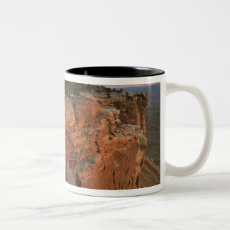 Canyon overlook in the Island in the sky Two-Tone Coffee Mug