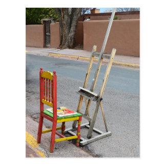 Canyon Road Artist Chair, Santa Fe Postcard
