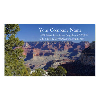 Canyon Rocky Desert Blue Sky Trees Business Cards
