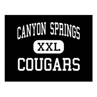Canyon Springs - Cougars - High - Moreno Valley Post Cards