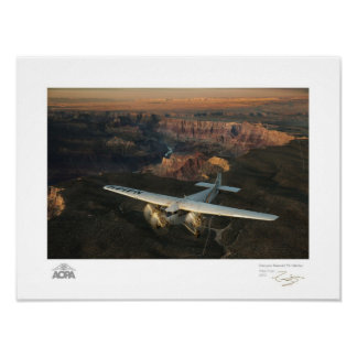 Canyon Sunset Tri-Motor Gallery Poster