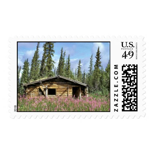 Canyon Village log cabin Postage Stamps