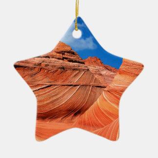 Canyon Wave Paria Vermilion Ss Ceramic Ornament