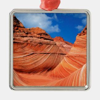 Canyon Wave Paria Vermilion Ss Metal Ornament