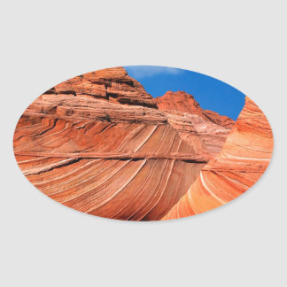 Canyon Wave Paria Vermilion Ss Oval Sticker