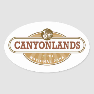 Canyonlands National Park Oval Sticker