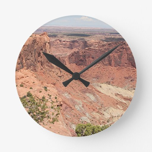 Canyonlands National Park, Utah, Southwest USA 6 Round Wall Clock