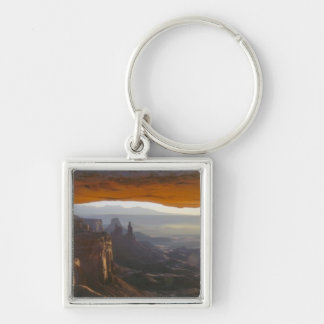 CANYONLANDS NATIONAL PARK, UTAH. USA. View Silver-Colored Square Keychain