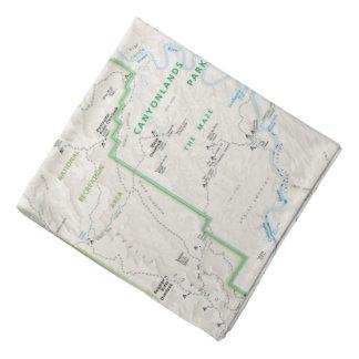 Canyonlands (Utah) map bandana