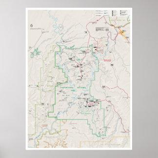 Canyonlands (Utah) map poster