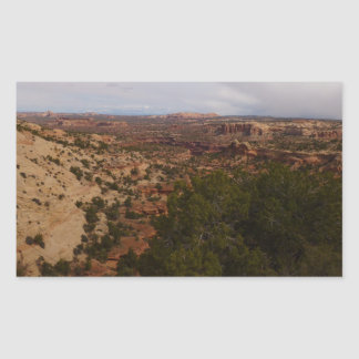 Canyonlands View from Neck Springs Trail Rectangular Sticker
