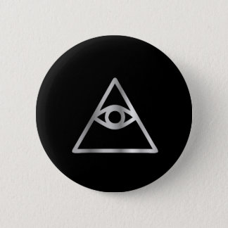 Cao dai Eye of Providence- Religious icon Button