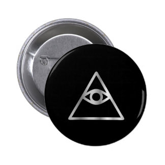 Cao dai Eye of Providence- Religious icon 2 Inch Round Button