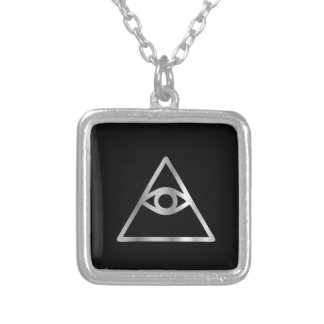 Cao dai Eye of Providence- Religious icon Silver Plated Necklace