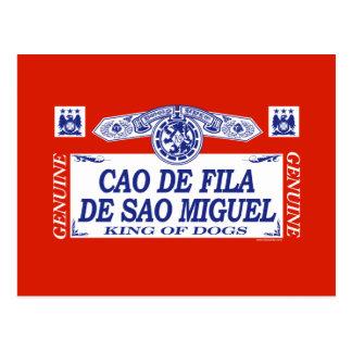 Cao De Fila De Sao Miguel Postcard
