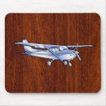 Caoba clásica del vuelo de Cessna del cromo de los Mousepad