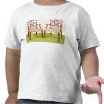 Caoba de Chippendale que cena sillas Camiseta